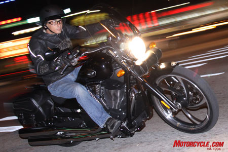 We cruised Bike Week day and night on the Victory Vegas 8-Ball.