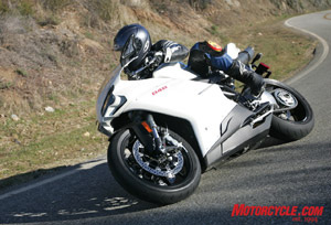 Although we keep blathering on about how beauteous the 848 is, let's not forget that it's a total blast to ride.