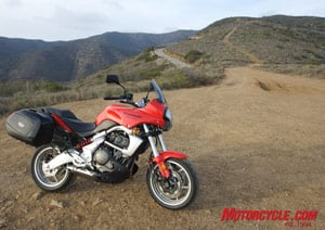 Though it's not a dual-purpose machine in the strictest sense, the Versys can keep you riding when the pavement ends.
