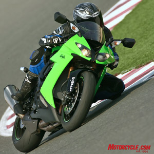 Kawasaki�s Ignition Management System is the headlining news on the new ZX-10R. It senses a lack of grip at acute lean angles and tries to prevent wheelspin at small or neutral throttle openings.