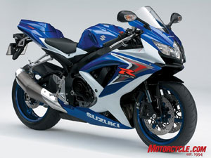 The 750 presents something of a dilemma for Suzuki sportbike buyers. At $10,599 it's $1,200 more than the '08 GSX-R600, but only $900 less than the '08 GSX-R1000.