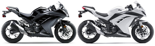 2013 Kawasaki Ninja 300 Black and White