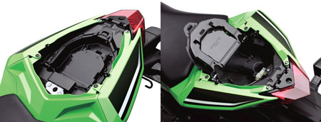 2013 Kawasaki Ninja 300 storage compartment