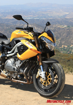 The TnT shares a lot with the other bikes in the Benelli U.S. model lineup, yet it has distinct style.