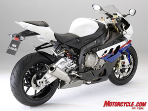 The S1000RR in BMW's Motorsports color scheme.