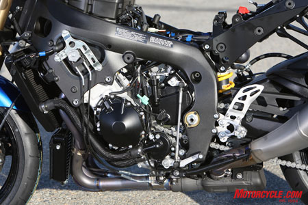 Hidden somewhere in there is an all-new 999cc in-line Four Suzuki powerhouse.