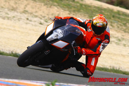 KTM's sportbike looks as fast as anything...but looks can be deceiving.
