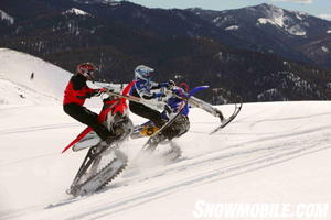 Snow Dirt Bike >> From Dirt To Snow Motorcycle Com