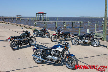 The Bonneville SE headlines the collection of Triumph Modern Classics.
