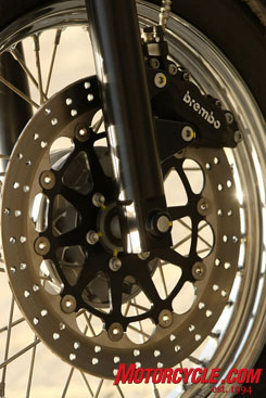Brembo brakes provide ample stopping power.