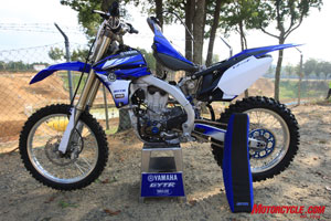 The fully kitted GYTR YZ450F will run you about $5,000 extra, with everything from clutch kits, performance exhaust, high-compression pistons, camshafts, and cosmetic goodies. The list of more than 50 items is entirely CAD-designed and Yamaha tested.