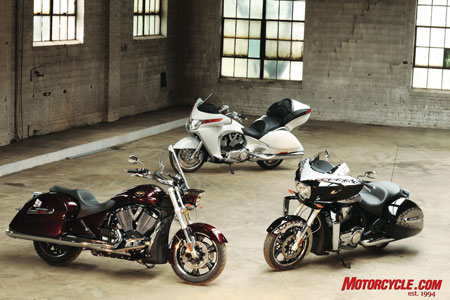 The new baggers join the Vision to create a touring �family� from Victory.