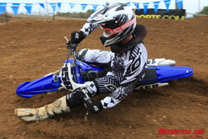Steering quicker than the 2009 YZ, it took Joey a few laps to adjust to the all-new design.