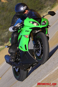 The revitalized ZX-6R is ready to take on all comers in our 2009 Supersport Shootout.