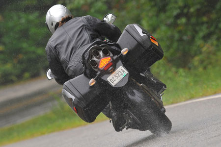 Rain, rain go away! I�ve got my Triumph H2Protec Jacket on today!