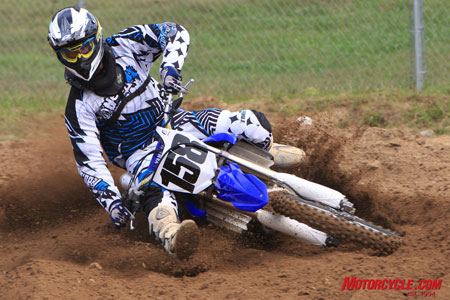 Making both the new YZ and MO look good, SoCal's Joey Webb (#158) tore up Maryland's Budds Creek MX track with ease.