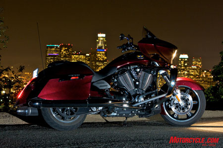 We think Victory has a good shot at snatching away H-D clientele with such a commendable effort in the form of the 2010 Cross Country. Harley should be 'ware what's lurking in the shadows.