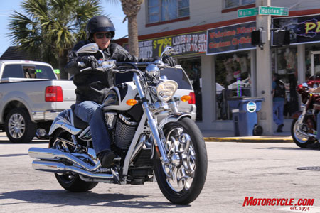 The Ness Jackpot rolls confidently down Daytona Beach�s Main Street.
