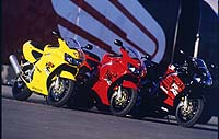 Of the three available colors for '98, we found the all-yellow CBR particularly sexy.