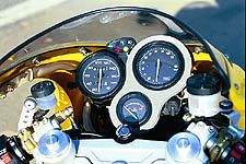 The simple dash proved effective. However, below 4K rpm, the needles would vibrate.