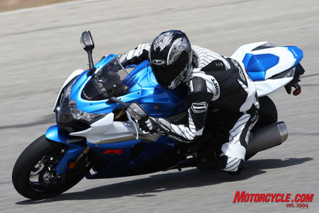 Power matched with control. The brand-new GSX-R is sure to make waves in the Liter Bike Pool in 2009.