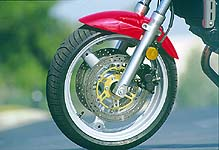 Certain design elements were incorporated to make riding easier, like good brakes.