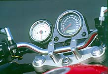 Clean tach, speedo,