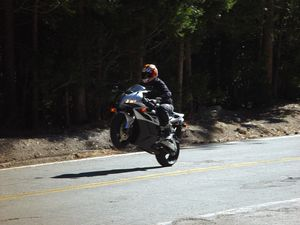 Of course, If you want to wheelie, just ask and the big CBR is more than happy to oblige.