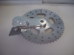 Sprocket/Brake Rotor combo is a neat idea, but will require much care when lubing the chain.actually