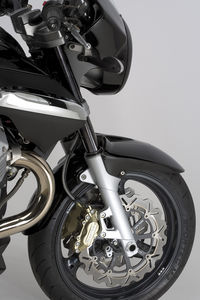 Wave rotors on a Guzzi? We at MO think this is like the Pope getting his navel pierced.