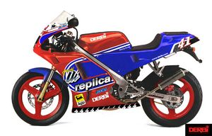 This is a formidable machine whose profile fills Aprilia RS50 racers with dread.