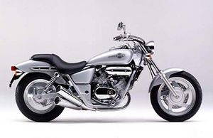 Honda's 250 Magna has suspicious similarities to the Kymco, but it really is a different bike.