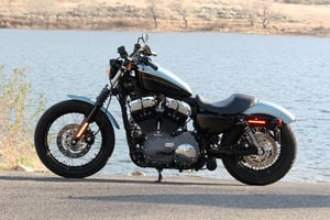 The 2007 Harley Nightster: Blacked-out and ready to rumble.