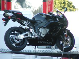 All black CBR 1000RR makes for a very clean looking design.