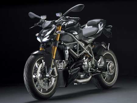 The Streetfighter S adds Ohlins suspension, forged Marchesini wheels and traction control.