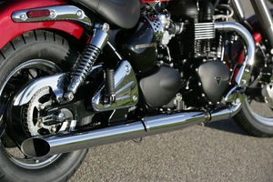 Here are the new slash-cut pipes for the Speedmaster.