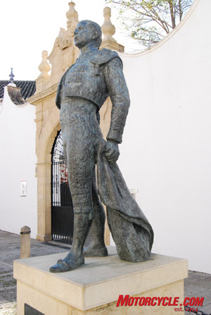 Bullfighting is at the core of Ronda's history. This monument to Antonio Ordonez stands outside Plaza de Toros de Ronda.