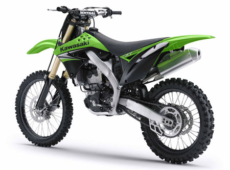 The KX250F has a slimmer look and Kawasaki says it's designed to offer lighter handling and enhanced engine performance.