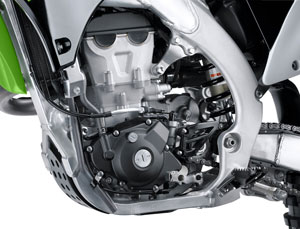 The engine in the KX450F comes standard with electronic fuel injection.