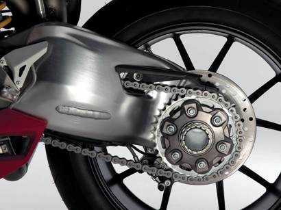 To the Italians, even a swingarm can be artistic.