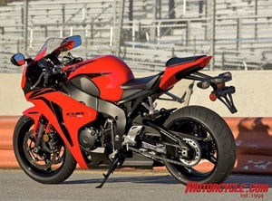 At 435 pounds ready to ride and full of fuel, the new CBR1000RR is Honda's lightest literbike ever.
