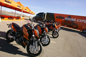 If this looks good to you, follow the big orange truck to a motorcycling event near you for some test-riding fun. Check http://www.ktmusa.com for more information.
