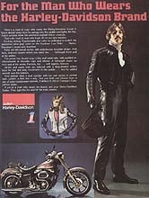 A Low Rider as featured in a 70's H-D clothing ad.