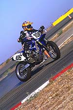 "This is what Supermotard is all about: Sideways corner entries and exits. Can you say, ""throttle control""?"