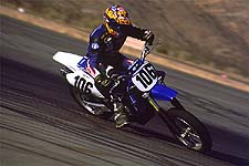 Yamaha's YZ426F is one of the most popular choices for Supermotard racing. Extreme lean angles are part of the 'motard game.