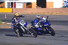 On the Streets of Willow, the GYT-R Yamaha YZ426F was able to hang with the mighty R1; right up until the straights.