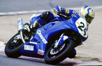 This is Mark Miller on his funny-looking racebike.