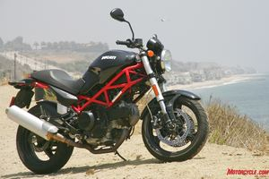Beautiful Italian bikes don�t come any cheaper than the $7795 Monster 695. Vespas don�t count.