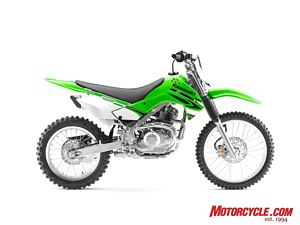 "All that separates the KLX140L from the KLX140 is larger wheels (19""/16"") and a shock with more adjustments. Otherwise, they are virtually identical."