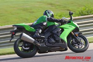Shiny and very new, the '08 ZX-10R is Kawasaki's serious attempt to regain a big piece, if not control, of the literbike segment. The new exhaust alone is worth some bonus points.